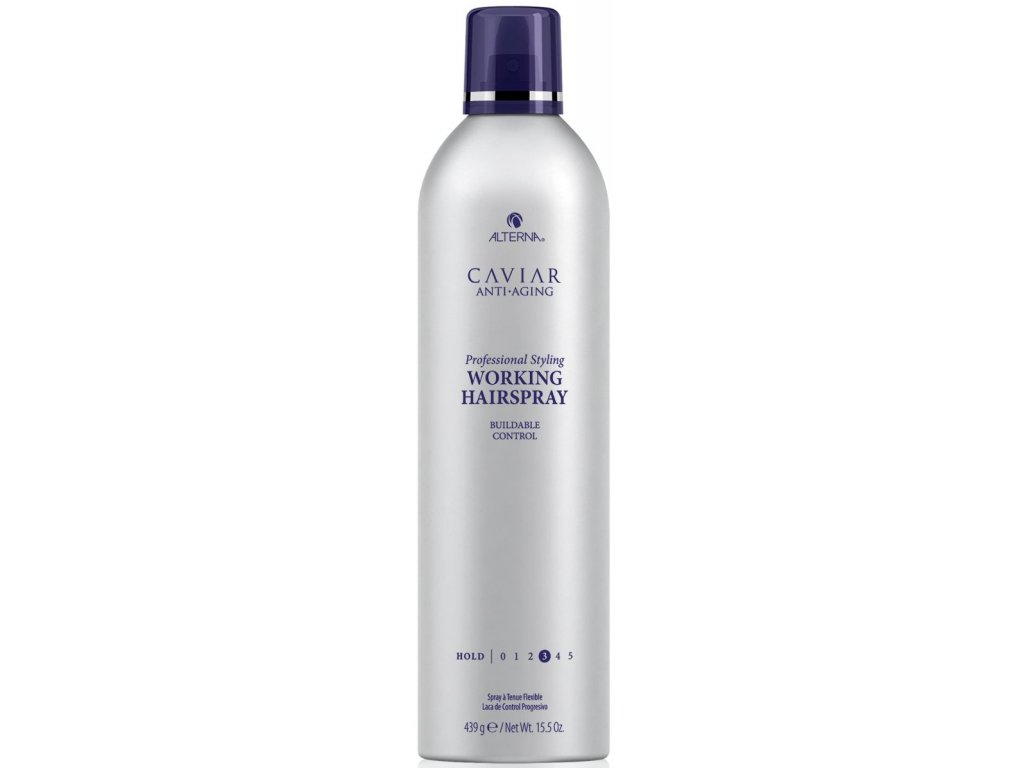 Alterna Caviar Professional Styling Working Hair Spray – ultra suchý lak na vlasy s tepelnou ochranou 439 g