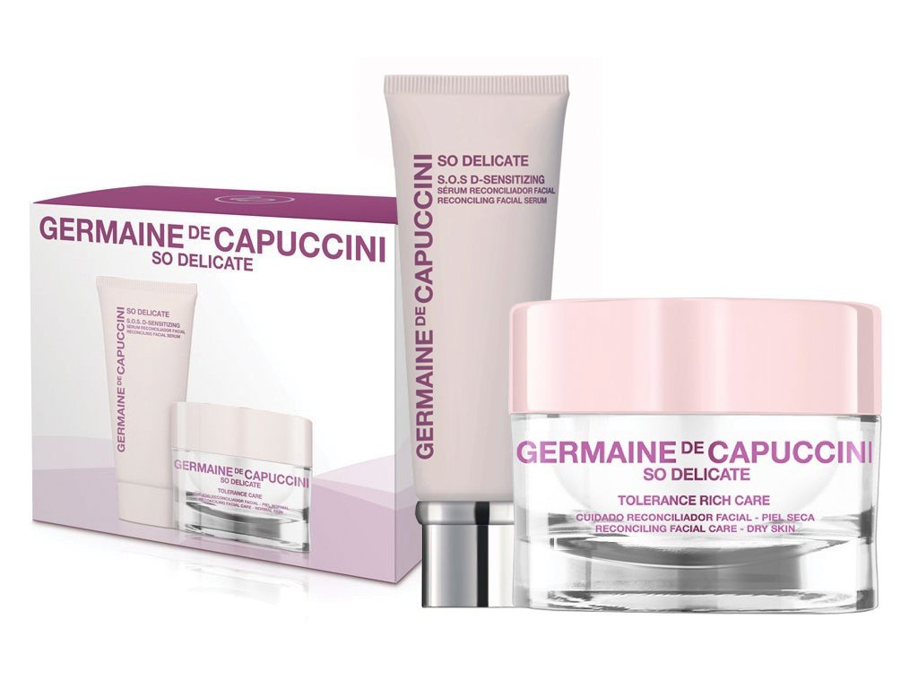 Germaine de Capuccini So Delicate Tolerance Rich Set – pleťový krém pro suchou a citlivou pleť 50ml + zklidňující pleťové sérum 30ml