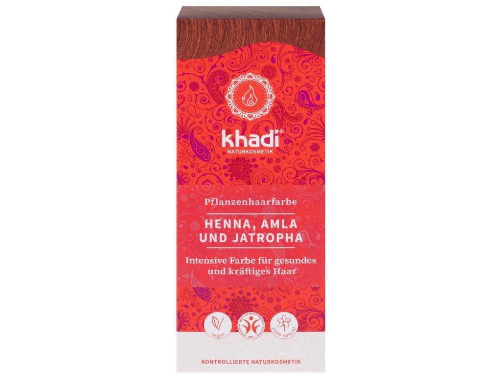 Khadi rostlinná barva na vlasy HENNA & AMLA & JATROPHA 100g