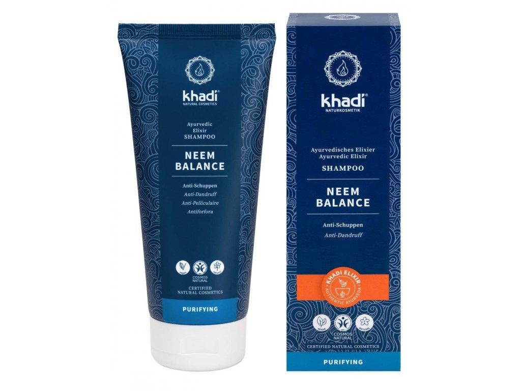 Khadi Neem - přírodní šampon proti lupům 210ml
