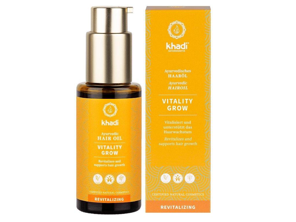Khadi Hair Oil Vitality Grow - vlasový olej stimulující růst vlasů 50 ml