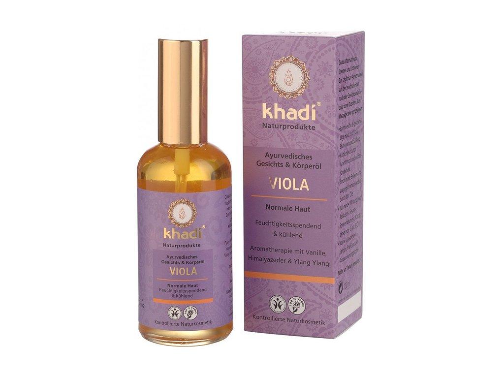 Khadi pleťový a tělový olej Fialka pro normální pleť 100ml