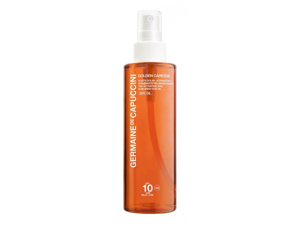 Germaine de Capuccini Golden Caresse Tan Subliming Oil SPF10 - výživný suchý olej pro aktivaci opálení 200ml
