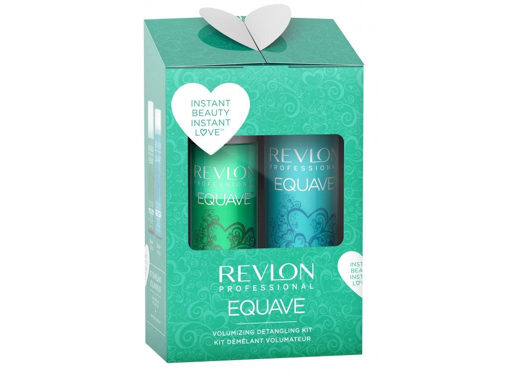 Revlon Professional Equave Volumizing Set - bezoplachový kondicionér pro jemné vlasy 200ml + hydratační šampon s keratinem 250ml