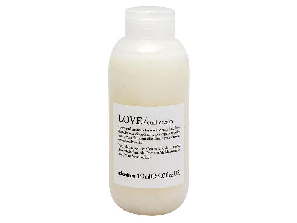 Davines Essential Love Curl Cream - bezoplachový krém pro vlnité a kudrnaté vlasy 150 ml