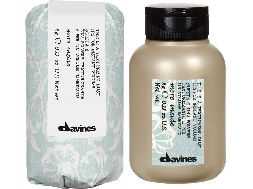 Davines More Inside Texturizing Dust - pudr pro dlouhotrvající objem a elasticitu 8g
