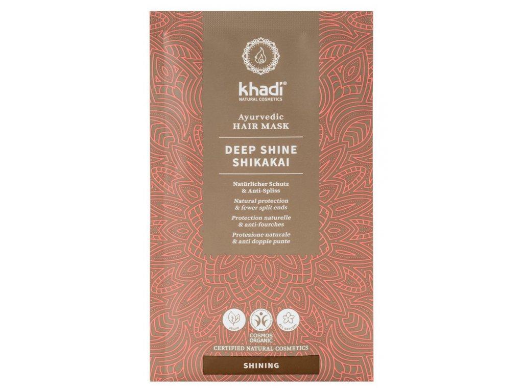 khadi ayurvedic hair mask deep shine shikakai 8978