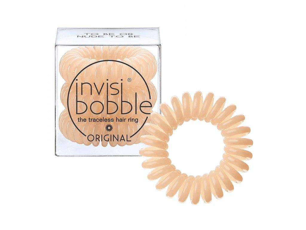 Invisibobble Original To Be Or Nude To Be - gumička do vlasů tělová 3 ks