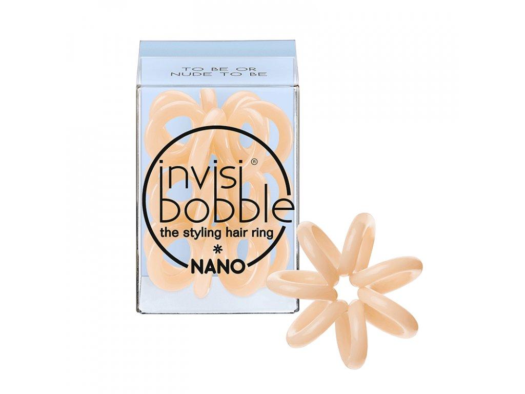 Invisibobble Nano To Be Or Nude To Be - gumička do vlasů tělová 3ks