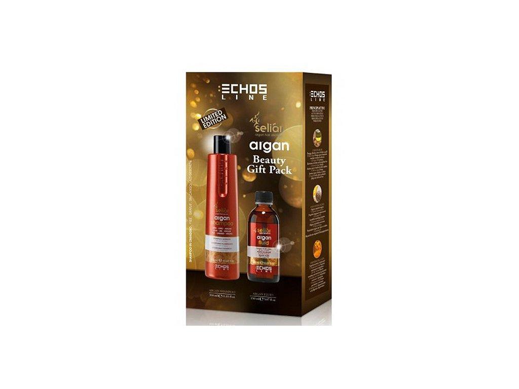 Echosline Seliar Argan Set - fluid na vlasy s arganovým olejem 150ml + vyživující šampon pro poškozené vlasy 350ml