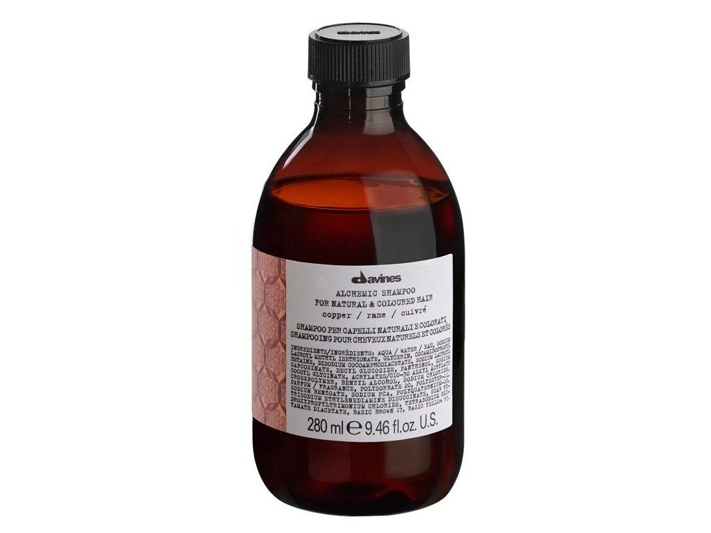 Davines ALCHEMIC - šampon pro zvýraznění barvy měděných vlasů 280ml