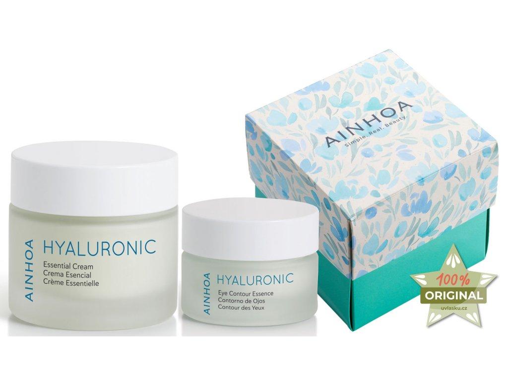 Ainhoa Hyaluronic Set – pleťový krém s kyselinou hyaluronovou pro normální a smíšenou pleť 50ml + hydratační krém na oční okolí 15ml