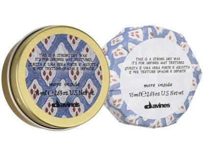 Davines More Inside Strong Dry Wax - silně tužicí vosk s matným efektem 75 ml