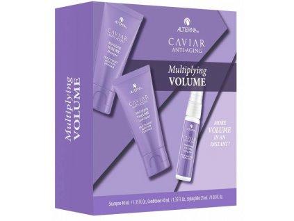 Alterna Caviar Multiplying Volume Trial Kit - šampon pro objem vlasů 40ml + objemový kondicionér 40ml + lehký fixační sprej 25ml