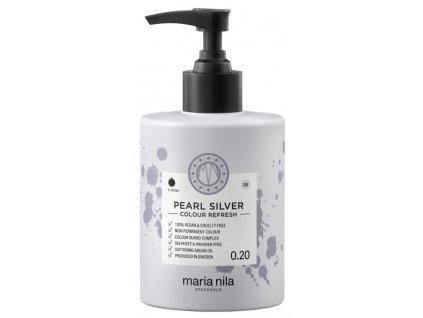 Maria Nila Colour Refresh Pearl Silver 0.20 – výživná maska na vlasy s barevnými pigmenty odstín Pearl Silver 300ml