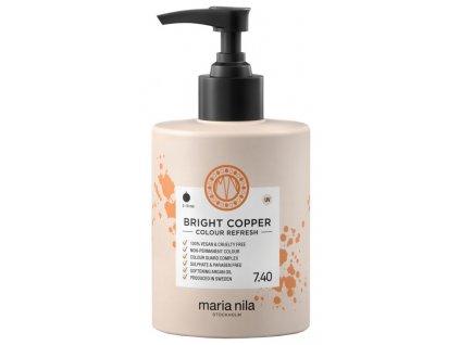 Maria Nila Colour Refresh Bright Copper 7.40 – výživná maska na vlasy s barevnými pigmenty odstín měděná 300ml