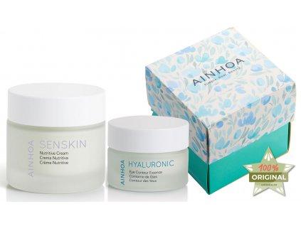Ainhoa Senskin Summer Set – výživný noční krém pro citlivou pleť 50ml + krém na oční okolí s kyselinou hyaluronovou 15ml
