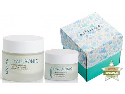 Ainhoa Hyaluronic Summer Set – pleťový krém s kyselinou hyaluronovou pro suchou pleť 50ml + hydratační krém na oční okolí 15ml