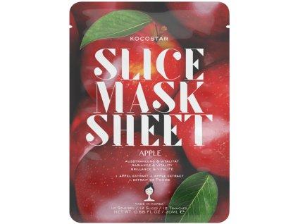 Kocostar Slice Mask Sheet Apple – rozjasňující plátková pleťová maska 20ml