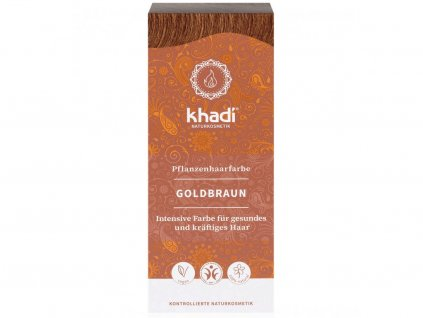 Khadi – rostlinná barva na vlasy zlatá hnědá 100g