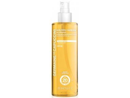 Germaine de Capuccini Golden Caresse SPF20 – voděodolný suchý olej na podporu opálení 200ml