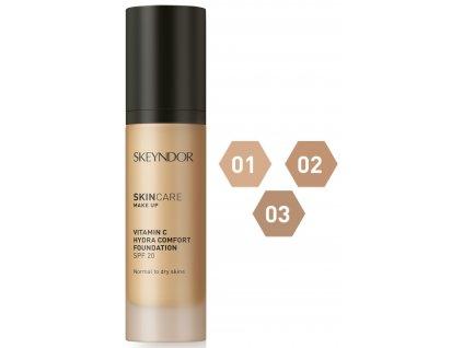 Skeyndor Skincare Makeup Vitamin C Hydra Comfort SPF20 – hydratační make-up pro normální a suchou pleť 30ml
