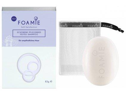 Foamie Shampoo Bar Soft Satisfaction – tuhý šampon pro citlivé vlasy a pokožku hlavy 83g