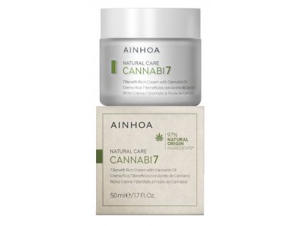 Ainhoa Cannabi7 Cream - pleťový krém s konopným olejem 50 ml