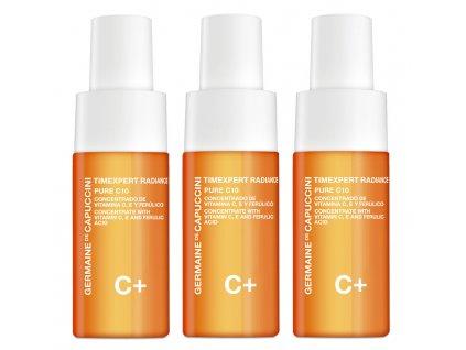 Germaine de Capuccini Timexpert Radiance C+ Pure C10 Concentrate - antioxidační sérum s vitamínem C 3 x 10 ml