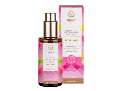 Khadi Elixir Skin & Soul Oil Rose Love 100ml