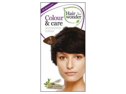 Hairwonder Colour & Care - dlouhotrvající barva na vlasy 3.0 Tmavá hnědá 100 ml