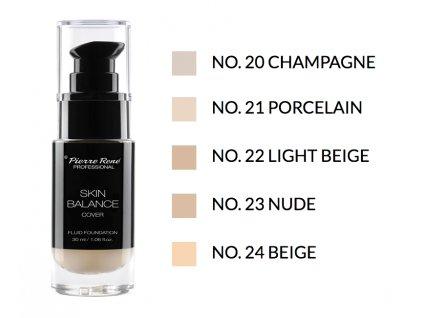 Pierre René Skin Balance Foundation Professional Make-up – krycí make-up pro všechny typy pleti 30ml