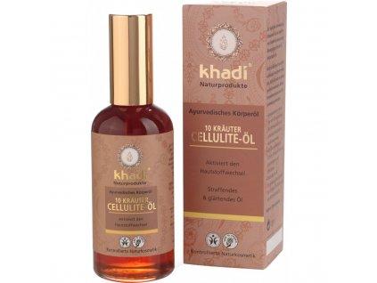 Khadi - tělový olej z 10 ajurvédských byli proti celulitidě 100 ml