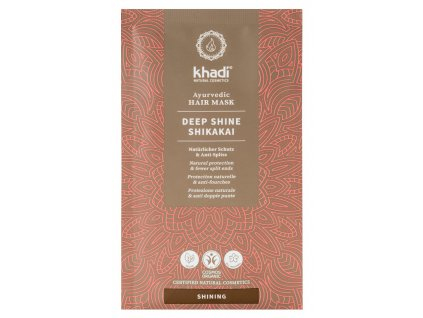 khadi ayurvedic hair mask deep shine shikakai 8978