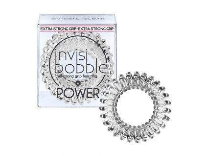 Invisibobble Power Crystal Clear - gumička do vlasů transparentní 3 ks