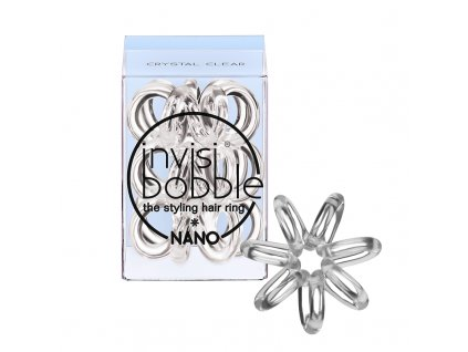 Invisibobble Nano Crystal Clear - gumička do vlasů transparentní 3 ks