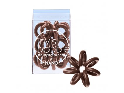 Invisibobble Nano Pretzel Brown - gumička do vlasů hnědá 3 ks