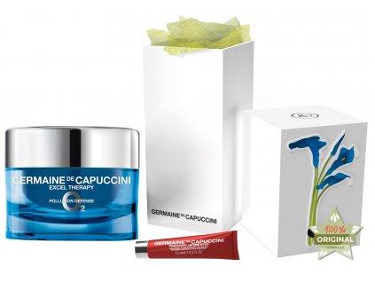 Germaine de Capuccini Excel Therapy O2 Summer Set – ochranný krém proti vráskám na suchou pleť 50ml + liftingový krém na oční okolí 15ml