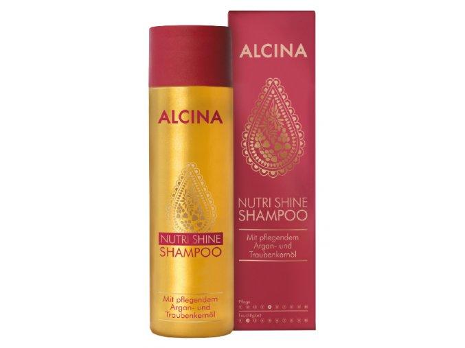 Alcina Nutri Shine - šampon s arganovým olejem na suché a narušené vlasy 250ml