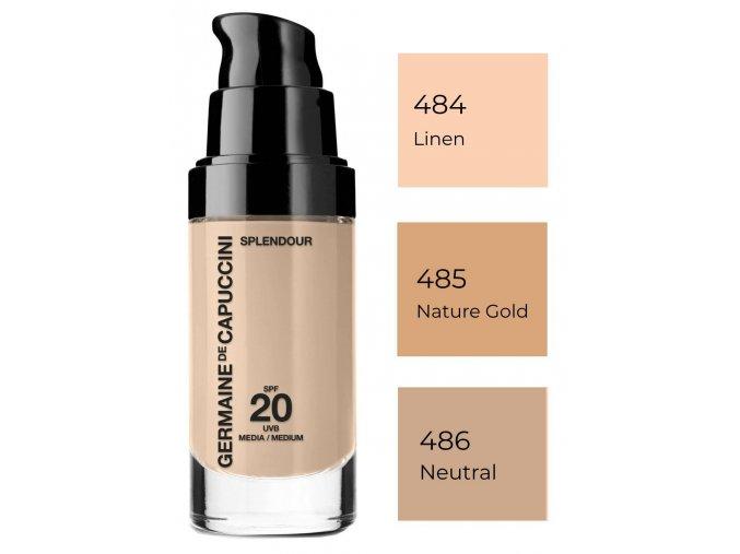 Germaine de Capuccini Splendour Make-Up SPF 20 – rozjasňující make-up pro normální a suchou pleť 30ml
