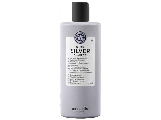 Maria Nila Sheer Silver Shampoo – hydratační šampon na blond, šedé a stříbrné vlasy 350ml