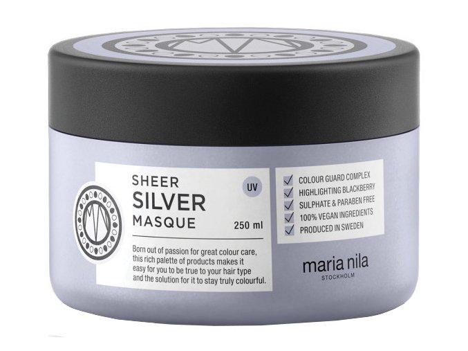 Maria Nila Sheer Silver Masque – maska na blond, šedé a bílé vlasy 250ml