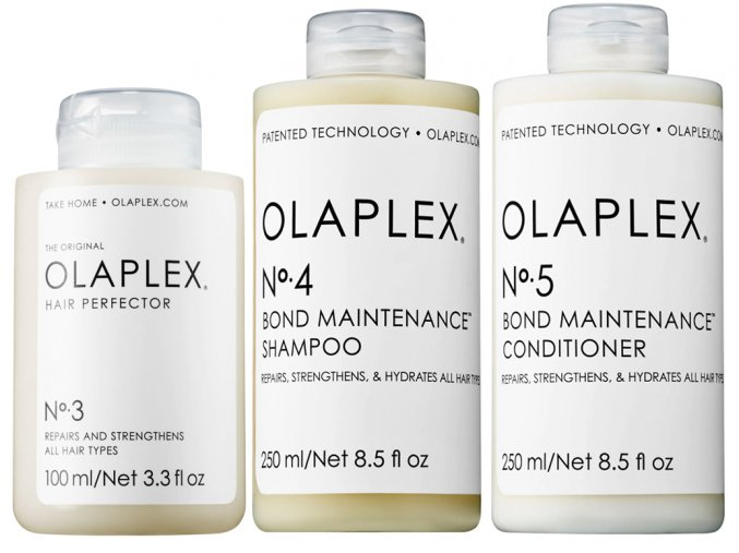Olaplex Christmas Set - kúra pro domácí péči No.3 100ml + obnovující šampon No.4 250ml + obnovující kondicionér No.5 250ml + Tangle Teezer Wet Detangling Serenity Blue 1ks