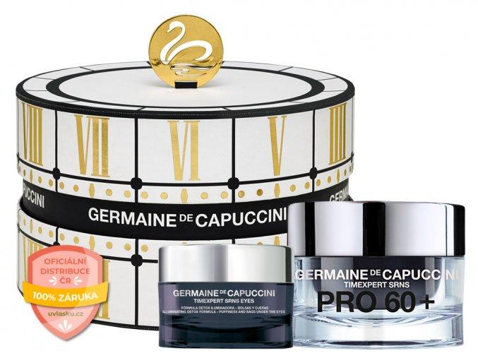 Germaine de Capuccini Timexpert Srns Pro 60+ Summer Set – extra výživný krém pro zralou pleť 50ml + krém na oční okolí proti kruhům a váčkům 15ml + Hippi kyselina hyaluronová 30ml