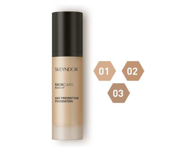 Skeyndor Skincare Makeup – středně krycí make-up pro zralou pleť 30ml