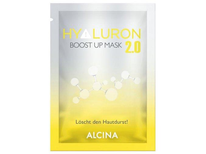 Alcina Hyaluron 2.0 Boost Up – textilní hydratační maska s kyselinou hyaluronovou 1ks