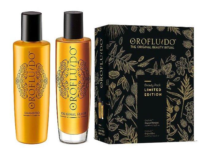 Orofluido Beauty Set - tekuté zlato 100ml + hydratační šampon na vlasy 200ml