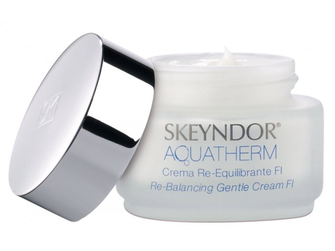 Skeyndor Aquatherm Re-Balancing Gentle Cream FI – hydratační krém pro citlivou mastnou až smíšenou pleť 50ml