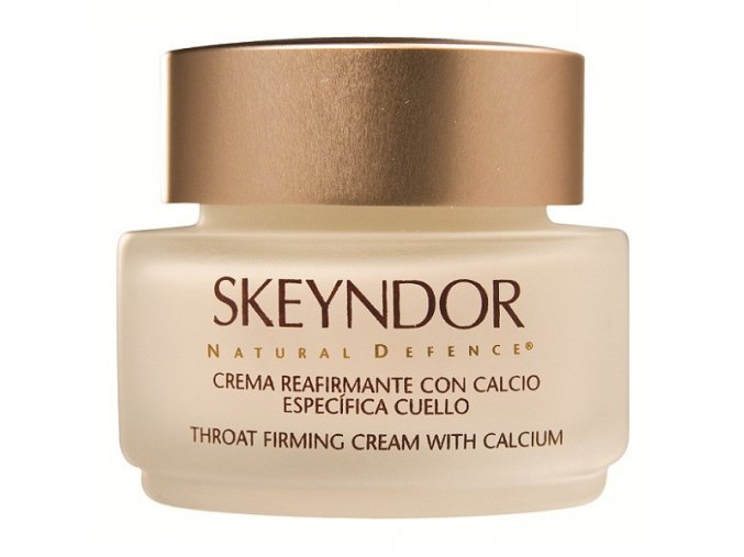 Skeyndor Natural Defence Throat Firming Cream with Calcium – zpevňující krém na krk s vápníkem 50ml