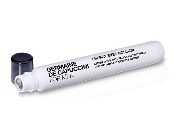 Germaine de Capuccini For Men Energy Eyes Roll-On - osvěžující sérum vaplikátoru pro unavenou pokožku kolem očí 10ml